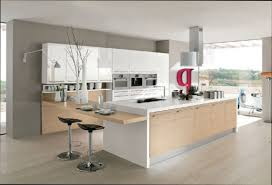 cuisine laque blanc cuisine blanc et bois cool cuisine blanc bois on decoration d