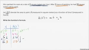 25 Square Meter by Linear Functions Word Problem Paint Video Khan Academy