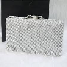 silver boxes with bows on top new women top quality clutches diamond box evening