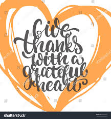 give thanks grateful thanksgiving day stock vector 507291655