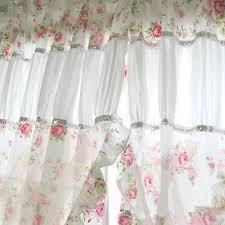 Shabby Chic Balloon Curtains by Romantic Rose Curtain 1 Jpg
