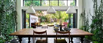 dining room brooklyn architect visit a dining room wallpapered with climbing vines in