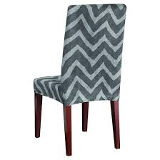 Dining Room Chair Slipcovers by Plush Chevron Dining Room Chair Slipcover Sure Fit Target