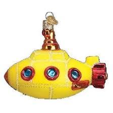 groovy yellow submarine world glass beatles