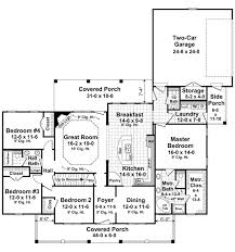 country house plan with 4 bedrooms and 2 5 baths plan 1028