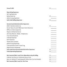 prepare an income statement template best template collection