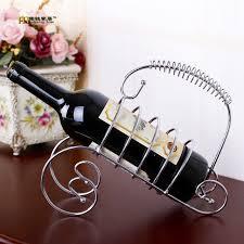 1pc longming home sale fashion decorative metal wine rack