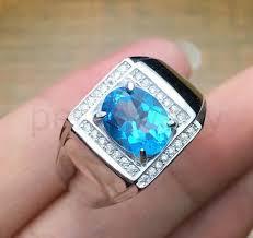 rings blue topaz images Men 39 ring natural topaz ring natural real blue topaz 925 sterling jpg
