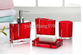 prissy design red bathroom set accessories glass made png 620 350