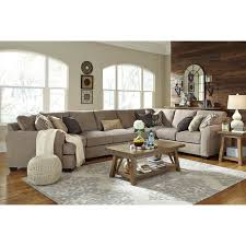 4 piece sectional with left cuddler u0026 armless sofa by benchcraft