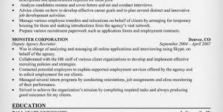 Staffing Recruiter Resume Sample Resume For Staffing Manager Staffing Agency Recruiter