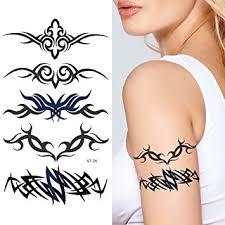 amazon com supperb mix tribal temporary tattoos tribal swirls