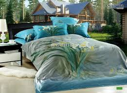 Blue And Brown Bed Sets 3d Bedding Sets 3d Floral Blue Green Turquoise Calla Comforters