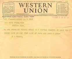here s an actual western union telegram to give you an idea how it