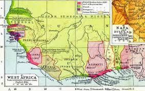 Map Of West Africa Big Blue 1840 1940 Upper Senegal U0026 Niger