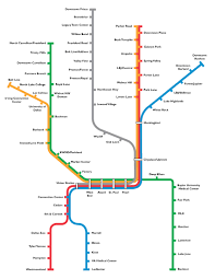 Train Map New York by Dartorg Dart Rail System Map Official Map Dallas Dart Light Rail