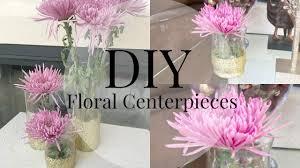 Floral Centerpieces Diy Gold Floral Centerpieces Youtube