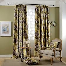 Washable Curtains Aliexpress Com Buy 2 Pieces Yellow Flowers Printed Window