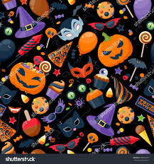 halloween party colorful seamless pattern vector stock vector