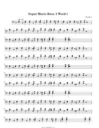 super mario bros 3 word 1 sheet music super mario bros 3 word