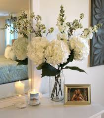 everyday table centerpiece ideas for home decor flower arrangements with twigs realistic hydrangea floral
