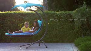 Hanging Chaise Lounge Chair Best Choice Products U0027 Hanging Chaise Lounger Youtube