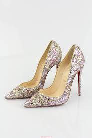 women christian louboutin so kate 120mm rosette gold glitter mix