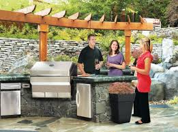 elite outdoor kitchen island with people cropped 1 affordable