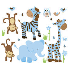 u0026 brown jungle safari stickers with zebra wall stickers for