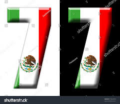 number 7 mexican flag stock illustration 54209353 shutterstock