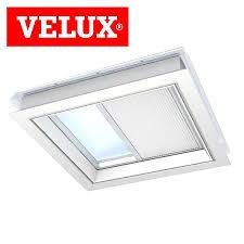 velux fmk 090090 1045 electric light dimming energy blind white