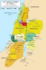 Biblical Map Of The Middle East by Twelve Tribes Of Israel Wikipedia