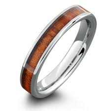4mm wedding band 4mm wood wedding band made out of tungsten carbide northernroyal