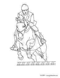 coloriages saut d u0027une haie d u0027un cheval à colorier fr hellokids com