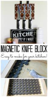 magnetic for kitchen knives make a magnetic knife block for your kitchen the country chic