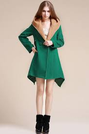 green button up hooded loose wool coat women u0027s coats trench