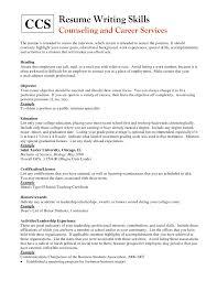 Adding Internship To Resume Should I Have An Objective On My Resume It Skills Resume