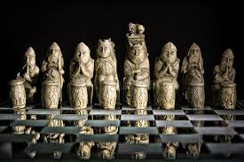 ancient chess ancient chess set on glass board stock image image of
