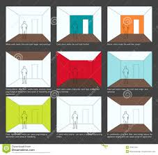 home decoration color scheme and space perception royalty free