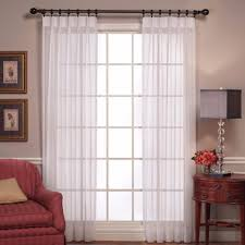 Sheer Pinch Pleat Curtains Sheer Voile Pinch Pleated Panel Pair H C International