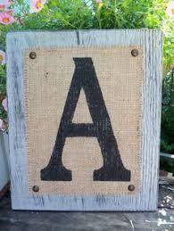 Monogram Letters Home Decor Chevron Burlap Framed Monogram Letter Home Decor For The Home