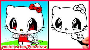 draw cartoon characters kitty fun2draw easy