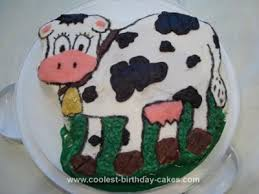 coolest homemade cow cakes