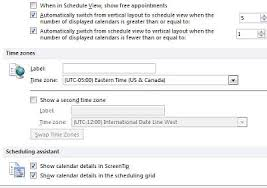 time zone layout outlook client recurring appointments time zone gmt offset problem
