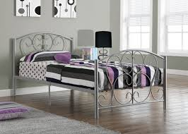 Iron Frame Beds by Silver Metal Twin Size Bed Frame Only Twin Size Bed Frame Bed