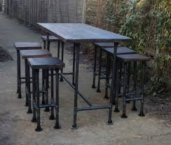 industrial style pub table high gas pipe bar table this impressive industrial style table is