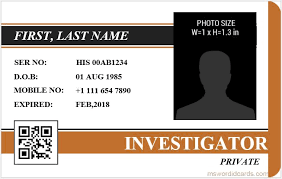 microsoft word id card templates