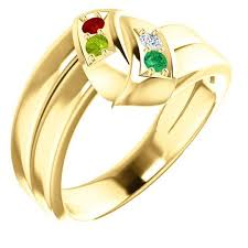 mothers ring with names gold 1 to 5 stones names engravable ring