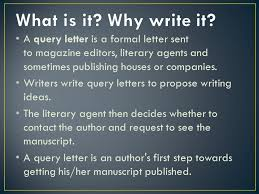 letter to literary agent