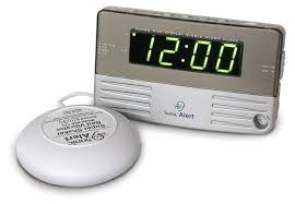 sonic alert sonic boom clock with dual alarms bed shaker